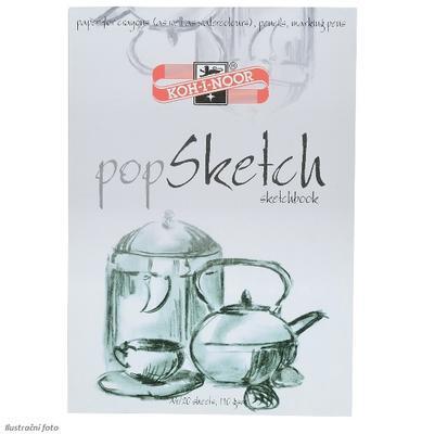 Skicák popSKETCH  - A4, 110 g/m2, 20 listů