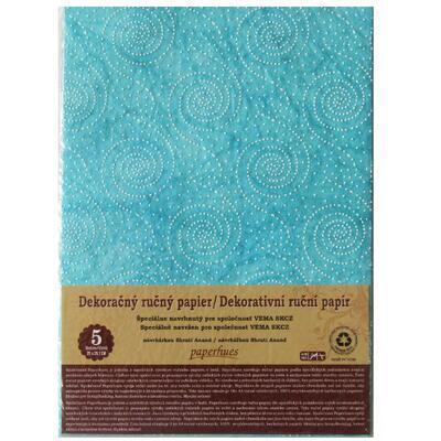 Dekorativní ruční papír A4 /5ks/