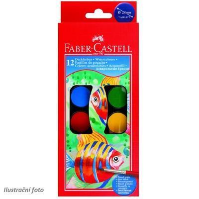 Faber-Castell Vodové barvy - 12 ks + štěteček, 24 mm - 1