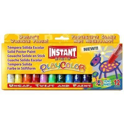 Playcolor Tuhé temperové barvy - 12 ks - 1