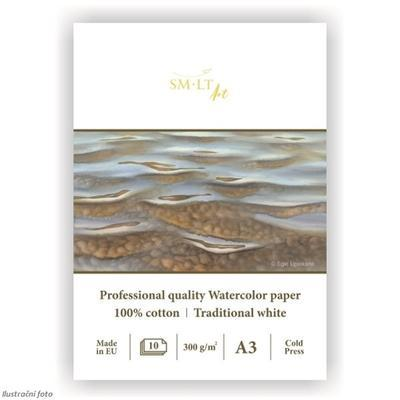 SMLT Blok Akvarel Cotton A3, 300 g/m2, 10 listů