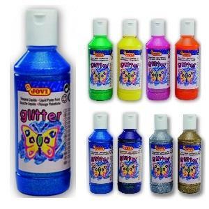 Jovi Temperové barvy glittrové 250 ml - modrá - 1
