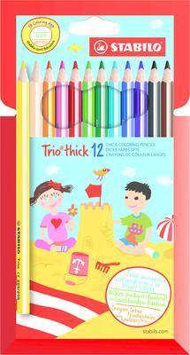 """Stabilo Trio Silné pastelky 203/12-01 Sada 12 ks i pro """"L""""  - 1"""