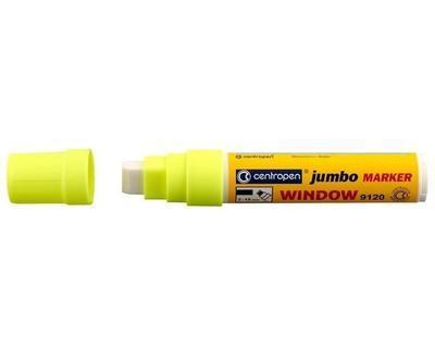 Centropen značkovač Jumbo Window křídový - žlutý