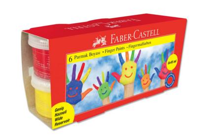 Faber-Castell  Prstové barvy  6 x 45 ml