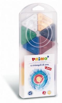 Voskové trojboké pastelky  Magic Primo - 12 ks