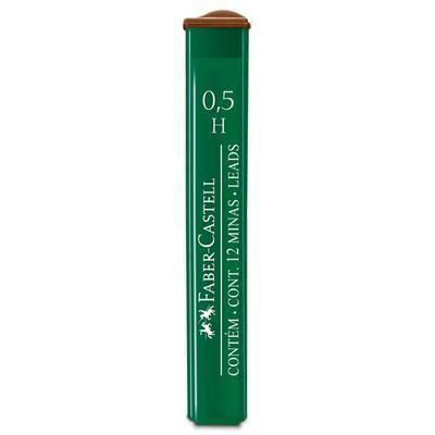 Faber-Castell Mikrotuhy POLYMER grafitové - 0,5 mm, H, 12 ks