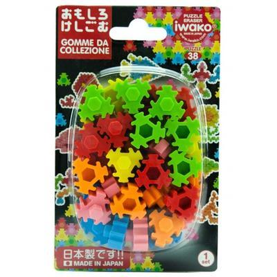 Guma figurky 36ks / blister - hexagon puzzle - 1