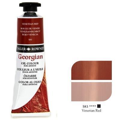 Daler & Rowney Georgian Oil 38ml - Venetian Red 583, olejová barva - 1