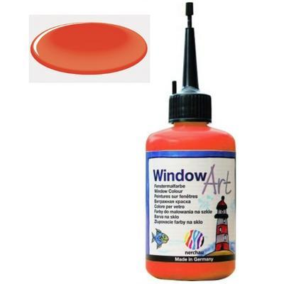 Barva na sklo Window Art  80 ml - rumělková červeň