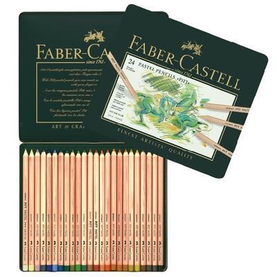Faber-Castell Pastelky PITT PASTEL - 24 ks v kovové etui - 1