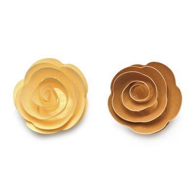 Výřez  Stáčené květiny - chamois/světle hnědé - 1
