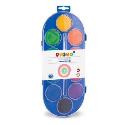 Vodové barvy PRIMO Jumbo 10 x 44 mm + štětec - 1