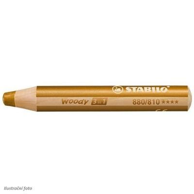 Stabilo WOODY 880/810 Pastelka 3v1 - zlatá
