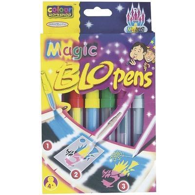 Foukací fixy BLOpens Magic na papír  Sada 4+2 ks + šablony - 1