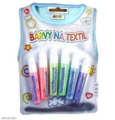 Barvy na textil perleťové - 6 x 7 ml