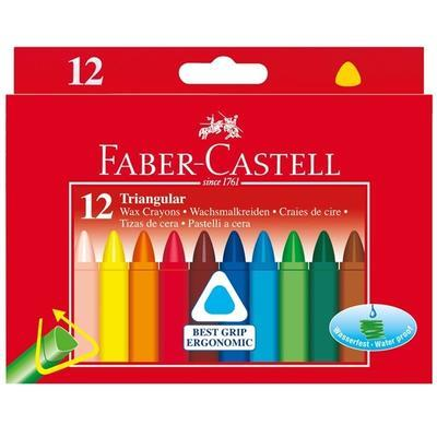 Faber-Castell Voskovky trojhranné - 12 ks - 1