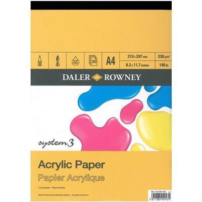 Daler & Rowney Skicák Acrylic - 210x297 mm, 20 listů
