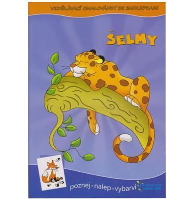 Vzdělávací omalovánky se samolepkami - Šelmy - 1