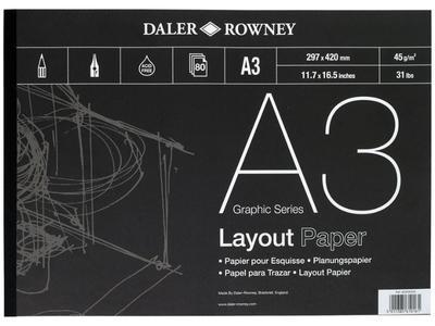 Skicák Layout gramáž 45g/m2 - A3, 80 listů