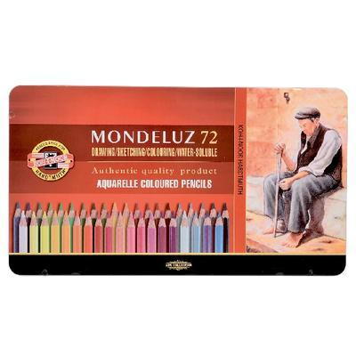 Mondeluz Akvarelové pastelky - 72 ks v plechu - 1