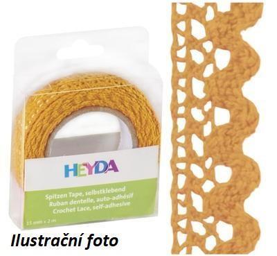 Páska textilní samolepící 15mmx2m - mango - 1