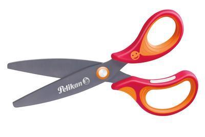 """Nůžky dětské ergonomické Griffix """"R"""" s kulatou špičkou - červené"""