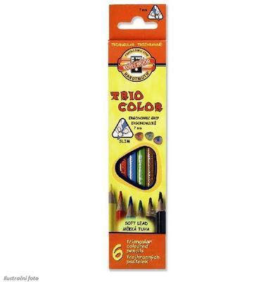 Trojhranné pastelky Triocolor tenké - 6 ks