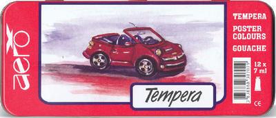 Aero Temperové barvy v kovové krabičce sada 12x7 ml Auto - 1