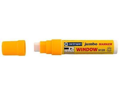 Centropen značkovač Jumbo Window křídový - oranžový