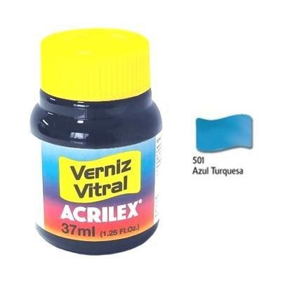 Vitrážová barva ACRILEX 37ml - Turquoise Blue - 1