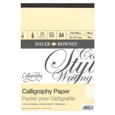 Daler&Rowney Calligraphy Pad  - A4, 30 listů