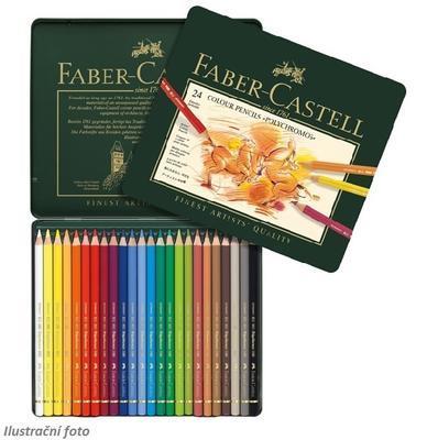 Faber-Castell Pastelky Polychromos - 24 ks plechová krabička - 1