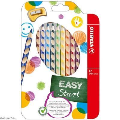 Stabilo EASYcolors 331/12 Pastelky pro leváky  Sada  12 ks + ořezávátko - 1