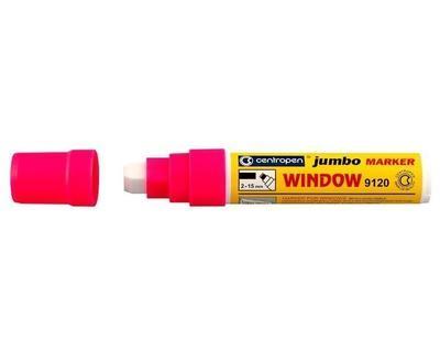Centropen značkovač Jumbo Window křídový - růžový