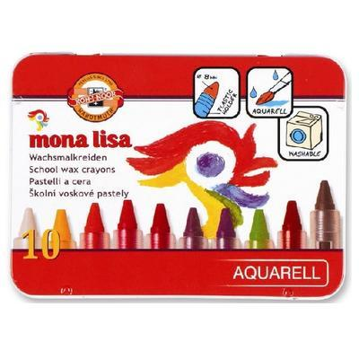 Školní akvarelové voskovky Mona Lisa - 10 ks - 1