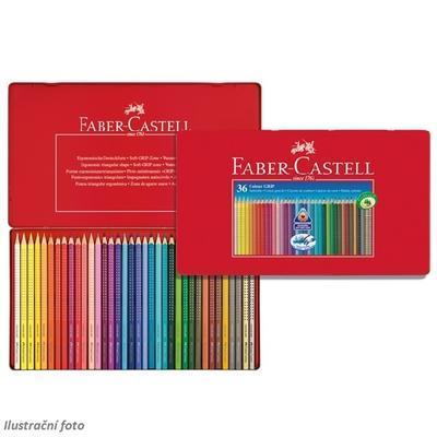 Faber-Castell Pastelky Colour Grip 2001 - 36ks v plechové krabičce - 1