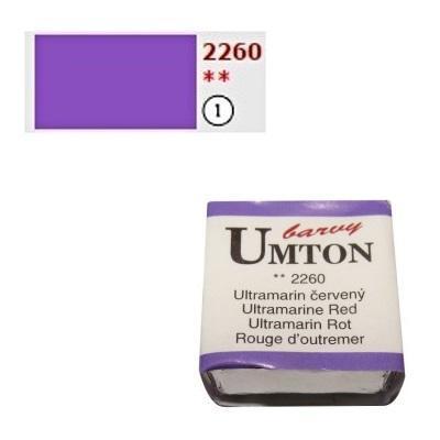 Akvarelová barva 2,6ml - Ultramarin červený/ 1 - 1