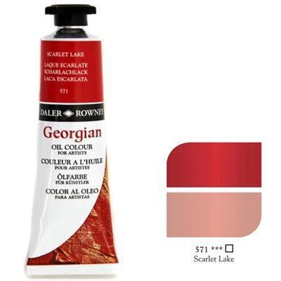 Daler & Rowney Georgian Oil 38ml - Scarlet Lake 571, olejová barva - 1