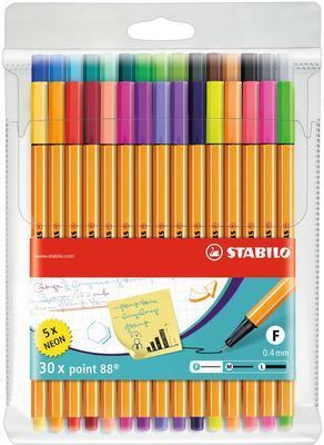 Stabilo Point 8830-1  Sada 30 ks - 25 barev + 5 neonových - 1