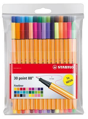 Stabilo Point 8830-1  Sada 30 ks - 25 barev + 5 neonových