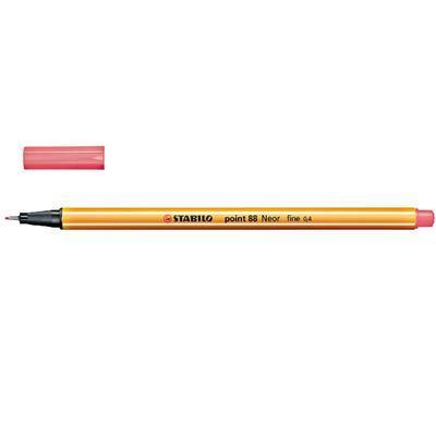 Stabilo Point 88/040 - fluorescentní červená - 0,4 mm