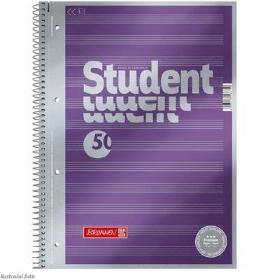 Student blok A4 spirála - notový, 50 listů - 1