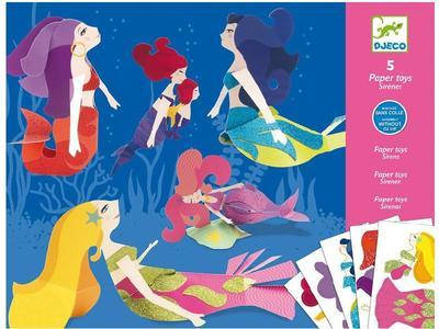 Origami skládačka - Mořské víly - 1
