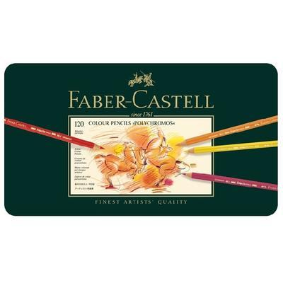 Faber-Castell Pastelky Polychromos - 120 ks v kovové etui - 2