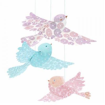 Závěsná dekorace - Ptáčci - 2