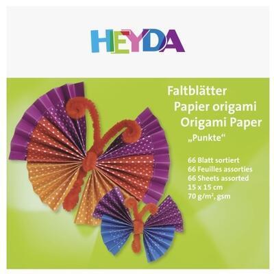 List origami puntíkatý 66 ks - 15x15 cm - 2
