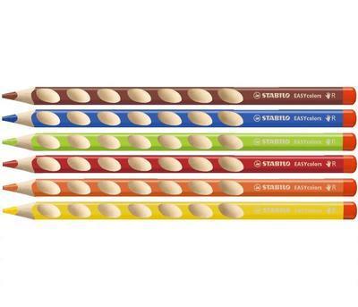 Stabilo EASYcolors 332/6 Pastelky pro praváky  Sada 6 ks - 2