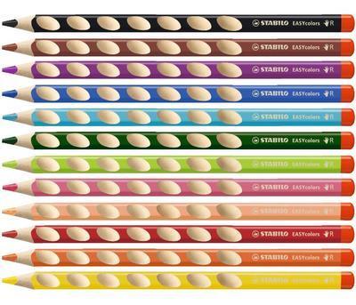 Stabilo EASYcolors 332/750 Pastelka pro praváky - černá  - 2
