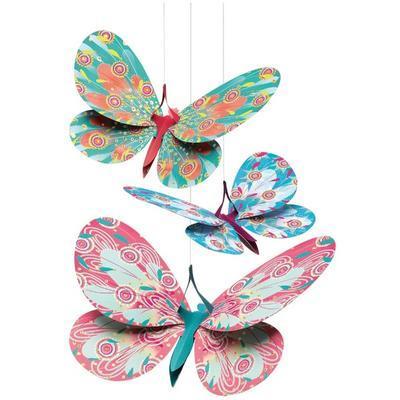 Závěsná dekorace - Motýlci - 2
